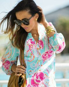 Lilly Pulitzer Elsa Top in Jellies Be Jammin worn by @Haley Shepherd   Sequins and Things