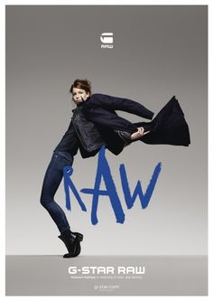 G-Star unveil their latest The Art of Raw campaign, starring Sergio Pizzorno of Kasabian and ballerina Keenan Kampa and shot by Rankin. Lookbook Design, Editorial, Gstar, Brand Campaign, Commercial Design, G Star Raw, Print Ads, Star Print, Fashion Stylist