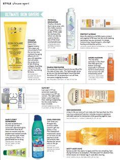 10 best sunscreens for summer 2014