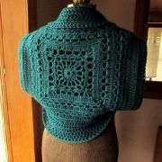 Crocheted Spruce Shrug