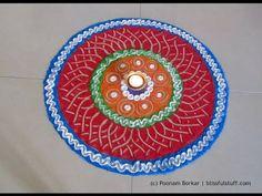 Easy rangoli design for diwali | Creative rangoli design | Poonam Borkar Rangoli Designs - YouTube