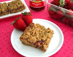 "For the past couple of weeks, I've been super obsessed with anything that involved the word ""bars"" – Dalmatian Bars, Key Lime Cheesecake Bars, White and Dark Chocolate Cream Cheese Chocolate Cake Bars – and oatmeal – Baked Oatmeal, Oatmeal Cookie Granola, Oatmeal Chocolate Chip Cookie Muffins – so when I came across these strawberry honey …"