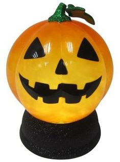 Celebrate Halloween Together Light Up Halloween Shimmer Pumpkin Globe