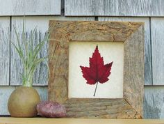 Canadian Red Maple Leaf in Handmade Reclaimed by SNLCreations