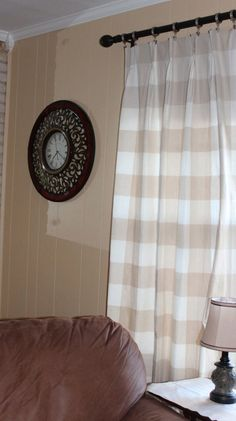 Buffalo Check Curtains Checkmate Red Cadet 2 Panels In 50x84 Country Living French Country
