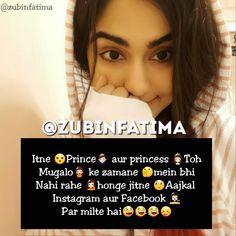 Ghanu 🖤 Princess Quotes, Crazy Girls, Hindi Quotes, Funny Jokes, Attitude, It Hurts, Girly, Holidays, Thoughts