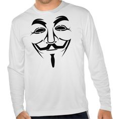 Guy Fawkes Mask - Minimalist Drawing Shirt; The Guy Fawkes mask is a stylized depiction of Guy Fawkes, the best-known member of the Gunpowder Plot, an attempt to blow up the House of Lords in London in 1605. The use of a mask on an effigy has long roots as part of Guy Fawkes Night celebrations. (Wikipedia) (https://twitter.com/HawCreekShop/status/542037734798680064) (http://haw-creek.com/shop/sold-33/)