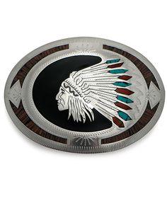 Ironwood Indian Chief Buckle at Maverick Western Wear