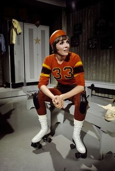 lifeonmars70s:    Julie Andrews    Julie Andrews in roller derby gear. OK, that's weird. (Best read in Homestar Runner's voice)