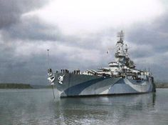 Rebuilt USS West Virginia in Puget Sound 1944.