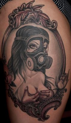 gas mask tattoo - Google Search