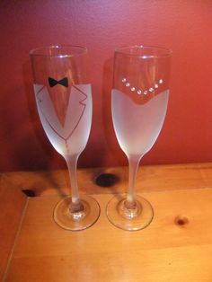 Bride and Groom Frosted Champagne Glasses by JLeighR on Etsy Wedding Champagne Flutes, Wedding Glasses, Champagne Glasses, Bridal Glasses, Champagne Toast, Perfect Wedding, Dream Wedding, Wedding Day, Bride And Groom Glasses