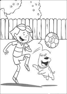 Desenhos para colorir para crianças. Desenhos para imprimir e colorir Clifford 16