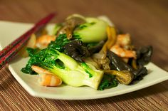 Cantonese Shrimp and Winter Wild Mushrooms by Langdon Cook