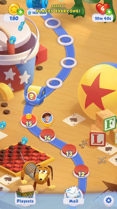 Toy Story Drops UI Main Screen Toy Story Game, Map Games, Game Ui Design, Game Interface, Social Games, Game Background, Game Icon, Games For Kids, Game Art