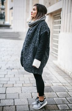 Warm oversize loose sweater