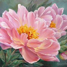 Maher Art Gallery- Marianne Broome One of the most affectionate flowers on the globe - Peony Painting, Watercolor Flowers, China Painting, Silk Painting, Art Floral, White Iris, Oriental Lily, Autumn Lights, Earth Design