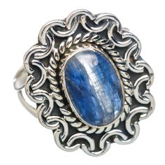 Rare Kyanite 925 Sterling Silver Ring Size 7.5 RING768026