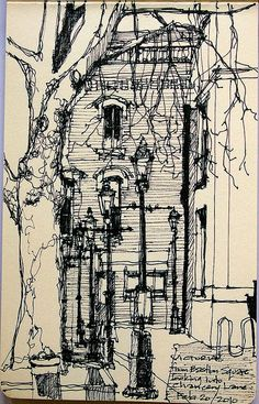 Ink drawing by Victoria - Chancery Lane / Bastion Square Sketchbook Inspiration, Art Sketchbook, Drawing Sketches, Art Drawings, Architecture Sketches, Urban Sketchers, Pen Art, Painting & Drawing, Illustration Art