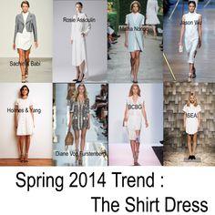 Spring 2014 Fashion Trends - The Shirt Dress