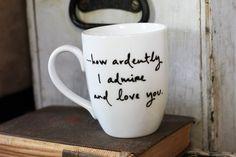 Mr. Darcy Proposal Mug - Jane Austen