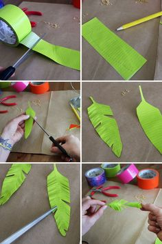 Duct tape feathers tutorial showing how to make them into earrings but it would be fun to use for kids dress up and pretend play - 29 Beautiful Diy Duct Tape Crafts Ideas Fun Crafts, Diy And Crafts, Crafts For Kids, Arts And Crafts, Paper Crafts, Creative Crafts, Duct Tape Projects, Duck Tape Crafts, Craft Projects