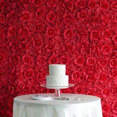 Red Hydrangea, Hydrangea Not Blooming, Hydrangeas, Flower Wall Backdrop, Wall Backdrops, Wedding Backdrops, Backdrop Ideas, Wedding Receptions, Faux Flowers