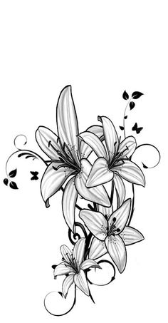 Ideas For Tattoo Ideas Shoulder Lilly Tattoo - ideen für tattoo-ideen schulter lily tattoo Ideas For Tattoo Ideas Shoulder Lilly Tattoo - Music tattoos; Unique Tattoos For Women, Trendy Tattoos, Cool Tattoos, Lily Tattoo Design, Tattoo Designs, Leg Tattoos, Body Art Tattoos, Tattoo Hip, Ribbon Tattoos
