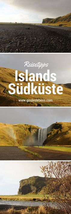 Island – South Coast Tour Teil 1 Today we explore the south coast of Iceland. In addition to beautiful waterfalls, we also visit the Jökulsárlón glacier lagoon and the Diamond Beach. Holiday Destinations, Travel Destinations, Places To Travel, Places To Go, Beach Hacks, Reisen In Europa, Beautiful Waterfalls, Iceland Travel, South Island