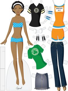 Paper dolls by Julie Allen Matthews. Paper Doll School features free printable paper dolls and tips about making paper dolls. Paper Doll Template, Paper Dolls Printable, Paper Toys, Paper Crafts, Paper Puppets, Operation Christmas Child, Bear Doll, Vintage Paper Dolls, Retro Toys