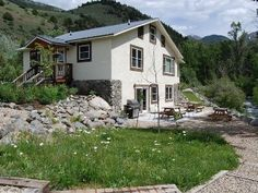 A Montana vacation rental near Yellowstone National Park and Chico Hot Springs. Lodging available by the night or by the week. Yellowstone National Park, National Parks, Chico Hot Springs, Bedroom Loft, Lodges, Montana, Cottage, Outdoor Structures, Cabin