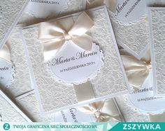 Zobacz zdjęcie Zaproszenie ślubne z koronkowym papierem w pełnej rozdzielczości