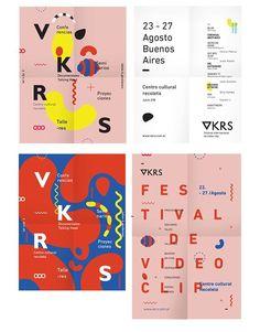 poster designs // source: spkngvclapprts // https://www.behance.net/gallery/17817591/VKRS-International-Video-clip-Festival: