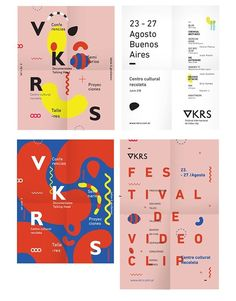 poster designs // source: spkngvclapprts // https://www.behance.net/gallery/17817591/VKRS-International-Video-clip-Festival: