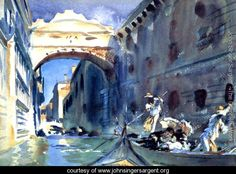 Bridge Of Sighs - John Singer Sargent - www.johnsingersargent.org