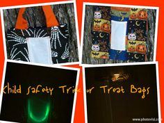 Child Safety Skeleton Hands Trick or Treat Bags by SimplyValarie, $15.00