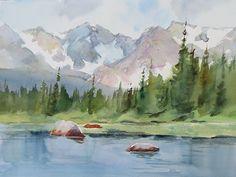 Watercolor Landscape Paintings, Watercolor Drawing, Abstract Watercolor, Landscape Art, Watercolor Paintings For Beginners, Watercolor Techniques, Painting Inspiration, Canvas Art, Artwork