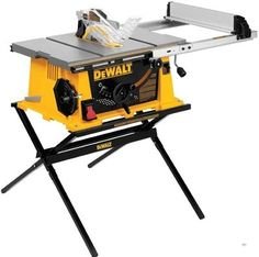 The DEWALT or (with stand) table saw is worth checking out if you are low on space but still want the power found on larger saws.