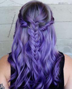 "Gefällt 448 Mal, 10 Kommentare - Encino  Blondes  Rainbow Hair (@caroline.anythingbutbasic) auf Instagram: ""Smokey Lilac #btconeshot_color16 #btconeshot_creativecolor16 #btconeshot_rainbow16…"""