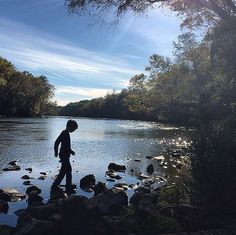 """""River. Rocks. Crisp cool air. Great weekend."" #FamilyTrails // : @talltreeslittleknees"""