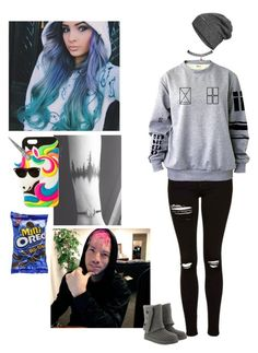 """""""With Josh Dun """" by oxxnjaxxo ❤ liked on Polyvore featuring claire's, The North Face, Wet Seal and UGG"""