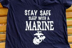 marine corps girlfriend Stay safe sleep with a Marine v neck T shirt by AmyJaneBeauty on Etsy