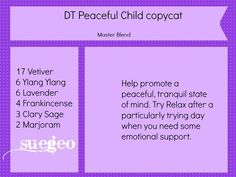 Image result for peaceful child blend recipe