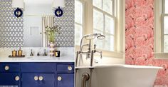 Want your bathroom to make a statement? Take tips from the experts and transform the room all your guests are sure to visit with bold wallpaper. From fun, creative prints to more muted, neutral patterns, John Lewis's collection of design-led wallpaper features established designers...