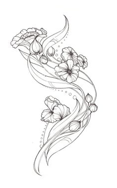 Art Nouveau Flower Designs Art Nouveau Tattoo Design by