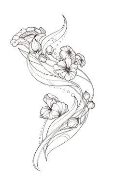 Art Nouveau Flower Designs Art Nouveau Tattoo Design by