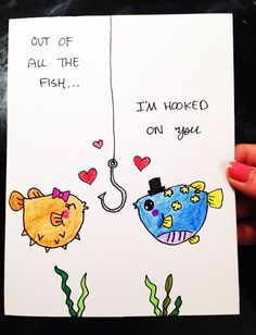 Cute Valentine Card_Out of all the fish I'm by LoveNCreativity