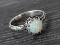 Opal engagement ring.