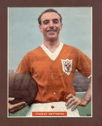 Stanley Matthews playing for blackpool.