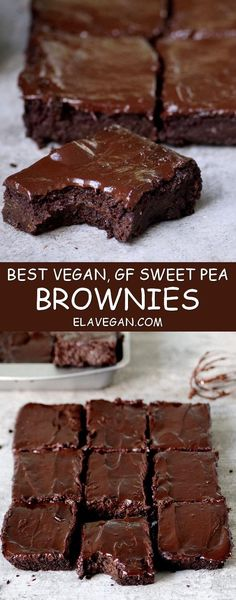 best vegan brownies recipe with sweet peas Pinterest